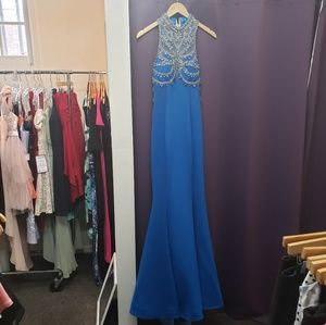Tony Bowls size 2 teal prom offense gown